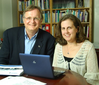 Drs. Del Siegle and Catherine Little. Photo by John Ehlinger.