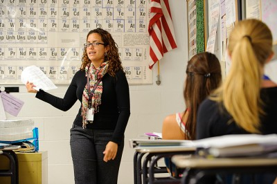 Carrasquillo won a Noyce Scholarship from the National Science Foundation that enabled her to pursue a career as an educator.