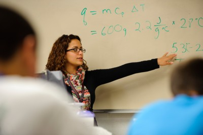Carrasquillo, a native Spanish-speaker, hopes to teach chemistry in a school where most students don't speak English well, so she can also help them with language issues.