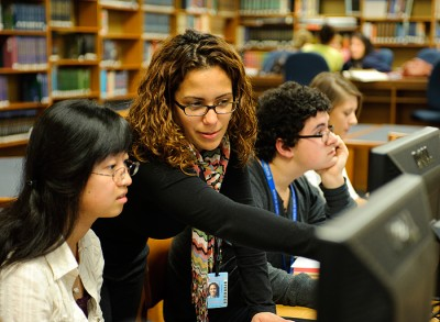 Lorna Carrasquillo, a graduate student in education, is a student teacher of science classes at Newington High School.