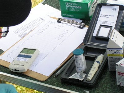 Materials and data record sheets used during previous field study at Mansfield Hollow State Park, CT.