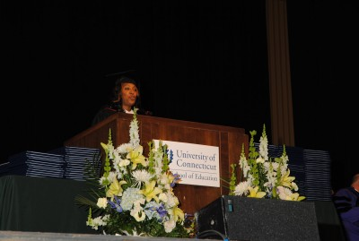 Kelci Stringer gives the 2011 Undergraduate Commencement Speech for the Neag School of Education.