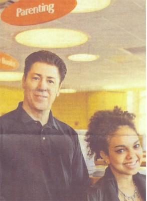 Neag alumnus Thomas McIntyre, and Ossining High School senior Emma Kates-Shaw