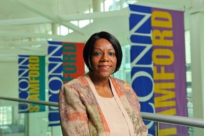 Sharon White, director of the Stamford Campus. (Peter Morenus/UConn Photo)