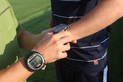 A Timex Global Trainer GPS Unit. Photo credit: Shawn Kornegay.