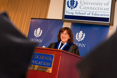 Investiture Ceremony for Sally M Reis, Ph.D. who was appointed the Letitia Neag Morgan Chair for Educational Psychology on November 17, 2011. (/UConn Photo)