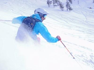 Kravitz enjoying skiing during his free time.