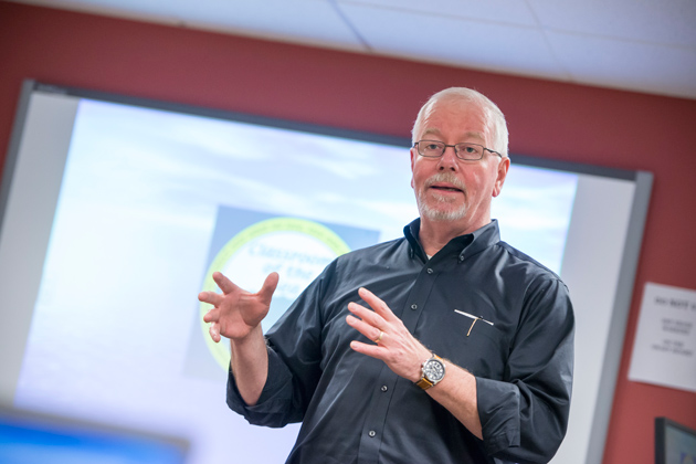 Scott Brown, professor of educational psychology, co-founder of the international social studies simulation for middle school students, Global Ed2. (Al Ferreira for UConn)