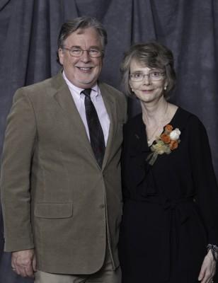 "Co-author of ""Childhood Denied"" and husband, UConn alumnus Chris Noblet, with Kathleen Reardon."