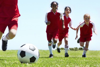 Kinesiology researcher Lindsay DiStefano is working with several hundred young soccer players to find out whether special warm-ups can help prevent sports-related injuries among middle school children. (Stock image)