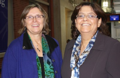Diane Ullman (pictured on the left) welcomed Mary Tadros to UConn as part of the program's facilitation.