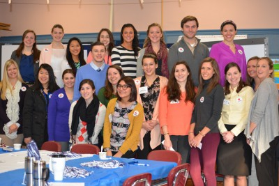 Neag student teachers and interns gathered after the breakfast.