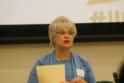 HESA Program Director Sue Saunders addressing the audience