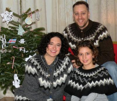Grenier and her family enjoyed celebrating Christmas in Iceland.