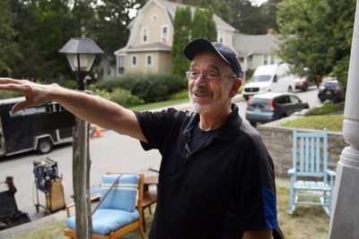 Wally Lamb served as executive producer of a forthcoming feature-length film based on his novel Wishin' and Hopin', which was filmed locally in Willimantic, Jewett City, and Norwich. (Angelina Reyes/UConn Photo)
