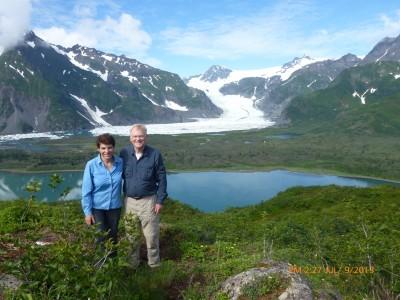 Linda and David hiking in Alaska #1