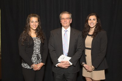 Neag Alumni President Louis Ando (pictured in the middle) attends Neag's Honors Ceremony with Alyssa Bogdanowicz and Gabrielle Pollatto.