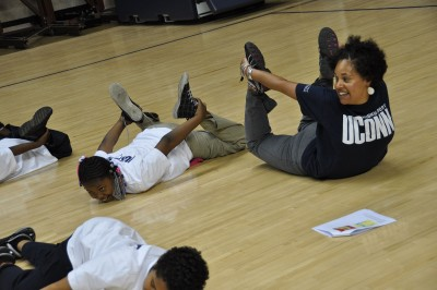 Husky Sport is a campus-community partnership based at the Clark Elementary and Middle School that has tapped the power of sport to connect Hartford and UConn since 2003. (Neag School of Education/UConn File Photo)