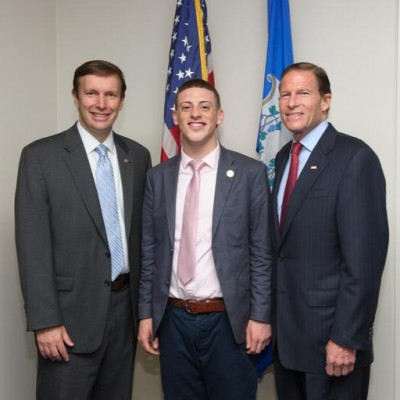 Justis Lopez meets up with the Connecticut senators, Senator Chris Murphy and Senator Richard Blumenthal, during his time in DC.