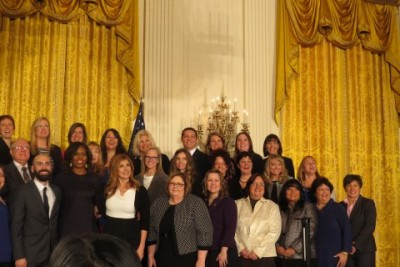 Semi-finalists from the National School Counselor of the Year gather at The White House.
