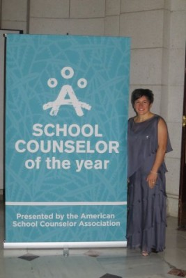 Vanessa Montorsi attends National School Counselor of the Year ceremony at The White House.
